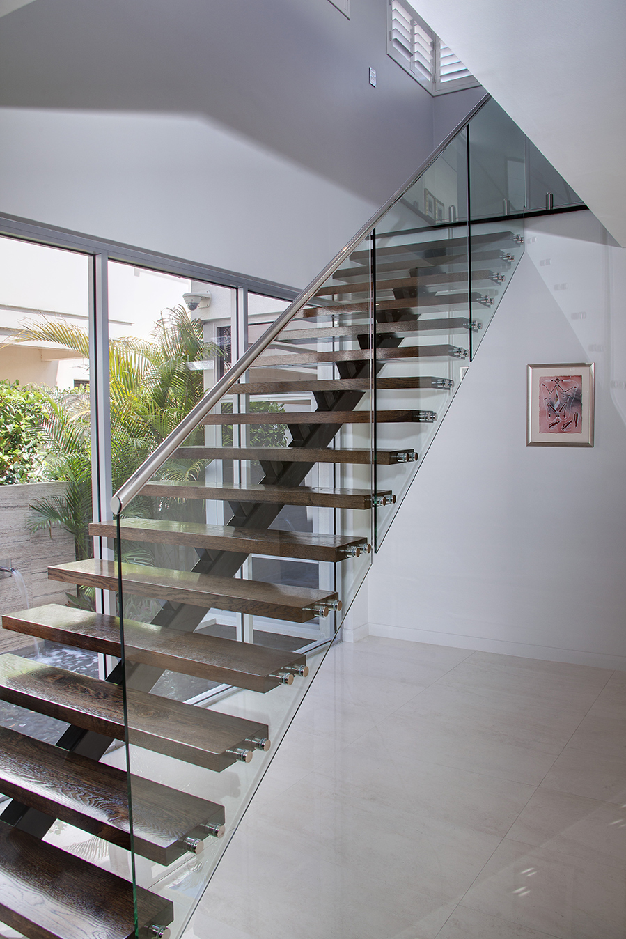 Stairs and Balustarde Railings   Stair Glass - Donegal Glass